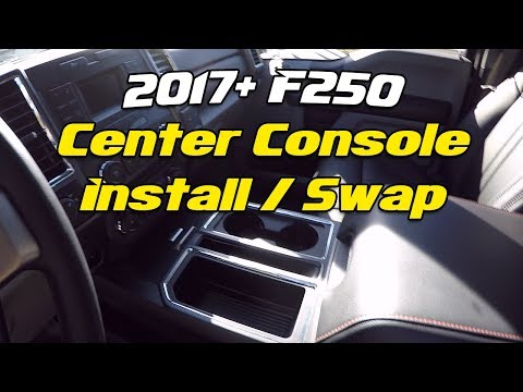 2017+ Ford F250 Console Swap - Install