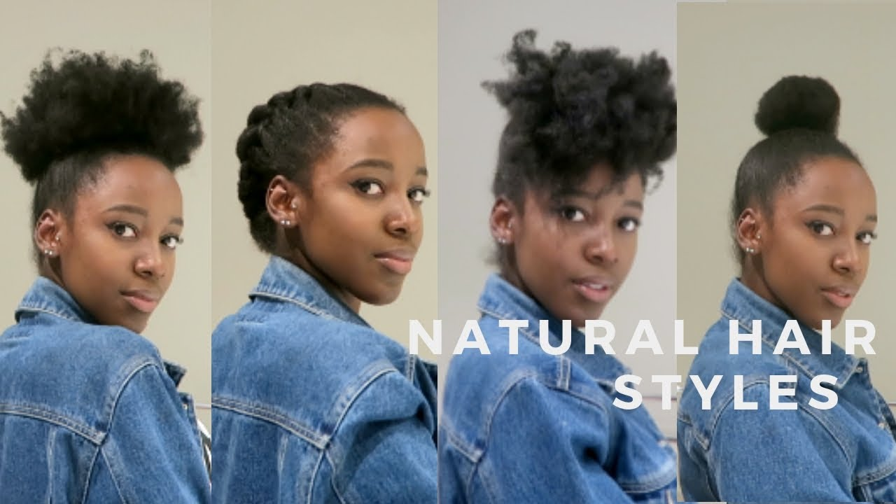Natural Hairstyles How To Style 4c 4b Hair Youtube