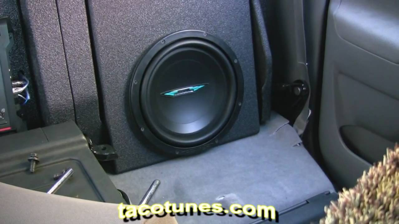 how to install subwoofer in your toyota tacoma 2005 2006 2007 2008 2009 2010 2011 youtube. Black Bedroom Furniture Sets. Home Design Ideas