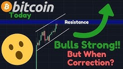 BITCOIN BULLS Are Strong, But Are People TOO Bullish? | When Correction? | $300,000 After Halving!!