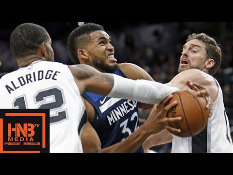 San Antonio Spurs vs Minnesota Timberwolves Full Game Highlights / March 17 / 2017-18 NBA Season