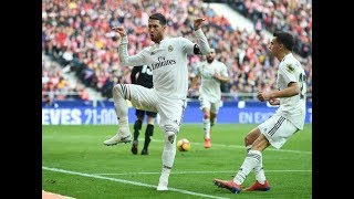 Sergio Ramos tente de faire une danse Fortnite pour mock Griezmann - Atletico vs Real Madrid