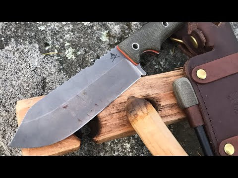 MAKE FIRE! Firecraft FC5 Knife For Bushcraft, Survival, Camping | Made by White River Knife and Tool