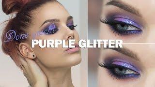 Done Quick- Purple glitter eyes  - Linda Hallberg makeup tutorials Thumbnail
