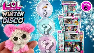 LOL Surprise Winter Disco!! LOL Series 6 Unboxing! Glitter Globe LOL Dolls, Fluffy Pets + Lils Pt 2