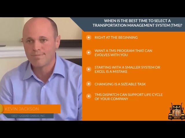 When is the best time to select a Transportation Management System (TMS)?
