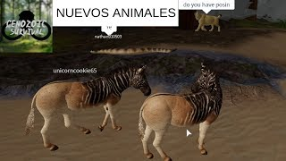 THE NEW ANIMALS AND IMPROVEMENTS OF CENOZOIC SURVIVAL ROBLOX - GAMEPLAY ENGLISH 2019