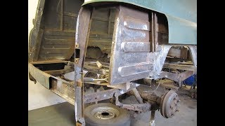 Trev's Bedford CA Van Blog - Part 11 Bodywork restoration Panel Beating