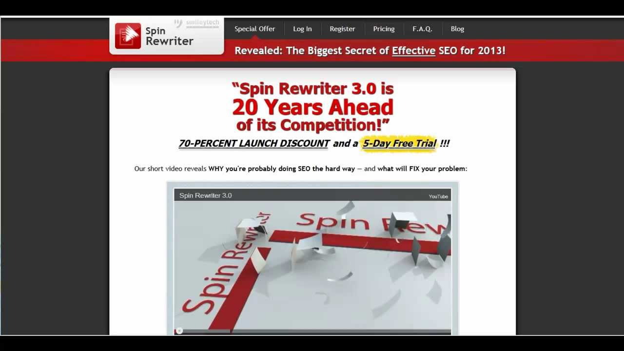 Spin article online