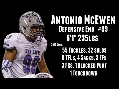 Antonio McEwen Defensive End Highlights