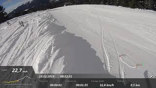 Sarıkamış Kayak Merkezi 7 nolu Kırmızı Pist Karanlıkdere 2019