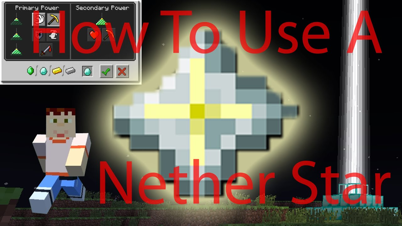 Minecraft  HOW TO USE NETHER STAR  How to use a beacon