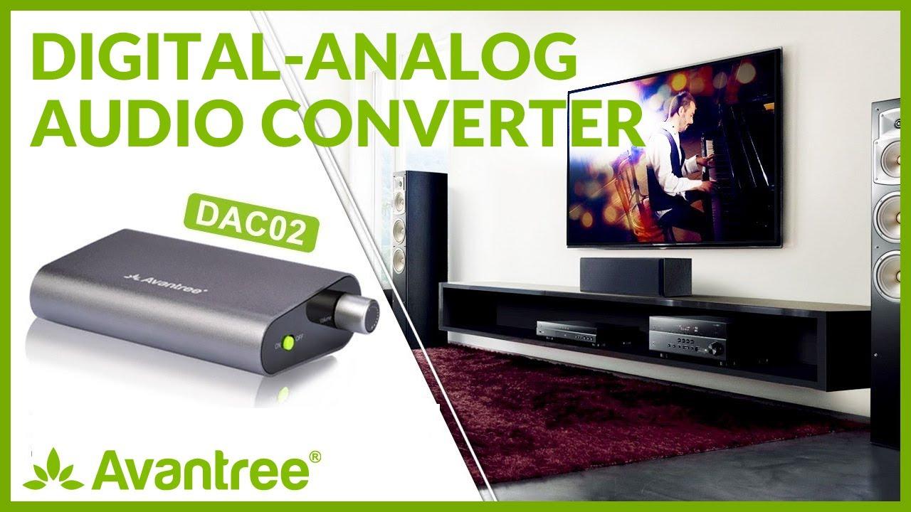 DAC Digital to Analog Converter, Optical Coaxial Audio to RCA, Volume  Control