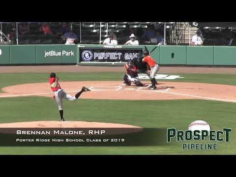 Brennan Malone Prospect Video, RHP, Porter Ridge High School Class of 2019, CF