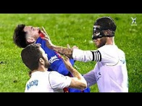 El Clasico ● Fights, Fouls, Tackles U0026 Red Cards ● HD