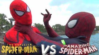 Superior Spider-Man VS Amazing Spiderman! Mortal Kombat Styled Fight! Real Life Marvel Battle