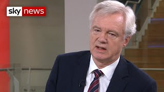 David Davis: There's a 'chance' Brexit won't happen on October 31