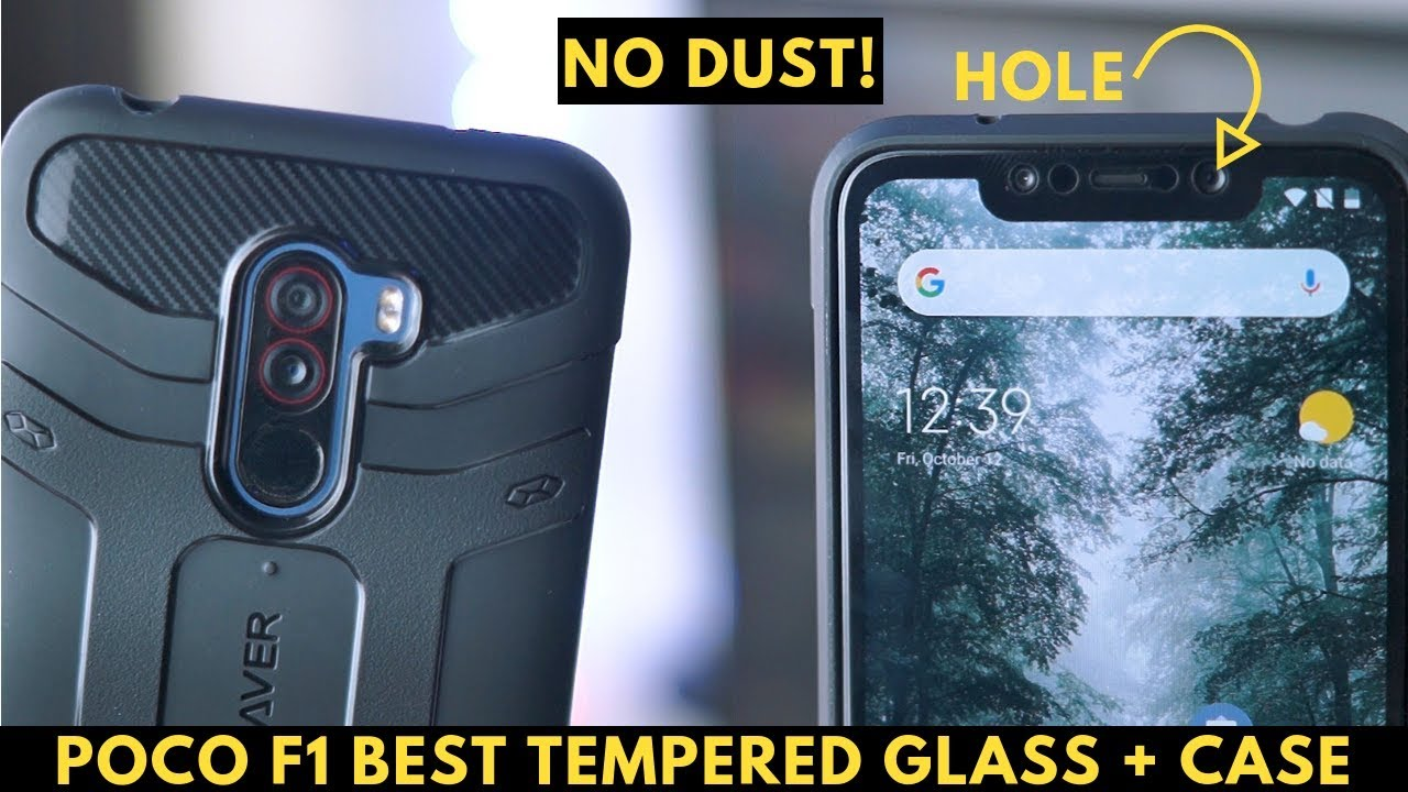 free shipping e9cf2 ce257 POCO F1 BEST TEMPERED GLASS + KAPAVER ARMOR CASE REVIEW| NO CAMERA DUST  ISSUE!