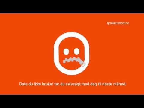 Fjordkraft Mobil presentert av emoji med glidelåsmunn