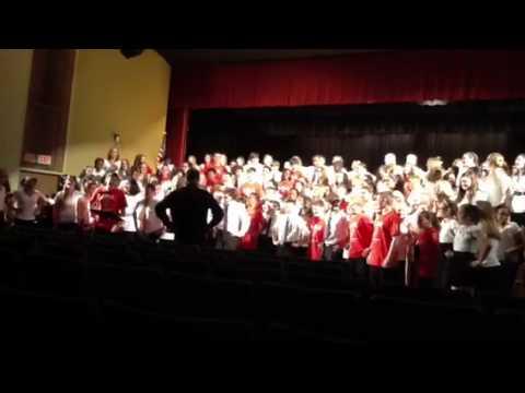 """Gates Chili Middle School chorus sings """"Time Warp"""""""