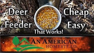 Easy Diy Deer Feeder For $20 - An American Homestead