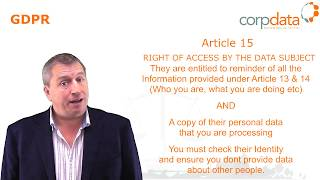 What is the right to access? Part 9 in our Guide to GDPR in 1 minute bites