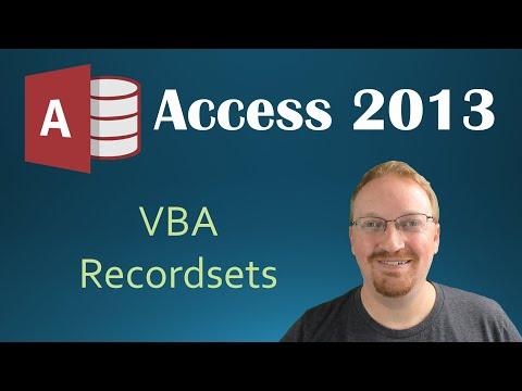 53  VBA - Recordsets Part 1 (Programming In Microsoft Access