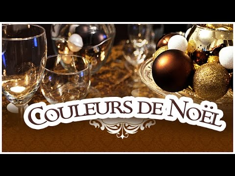 tuto diy d coration de table de noel couleur or youtube. Black Bedroom Furniture Sets. Home Design Ideas