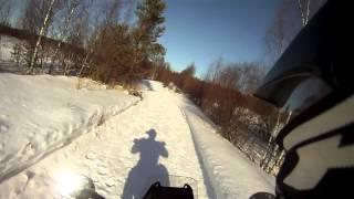 KTM 690 Enduro R in Winter Wonderland
