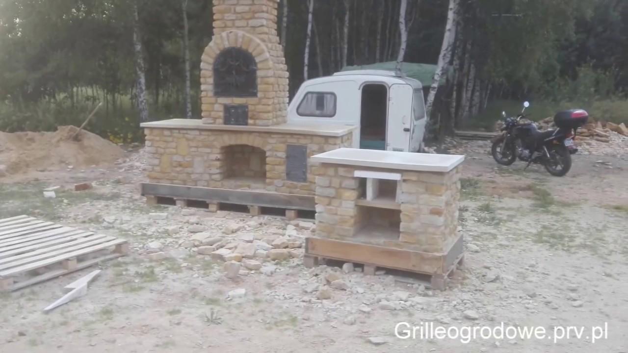 Wszystkie nowe Grill murowany z kamienia, Grille ogrodowe, wędzarnie - YouTube UU02