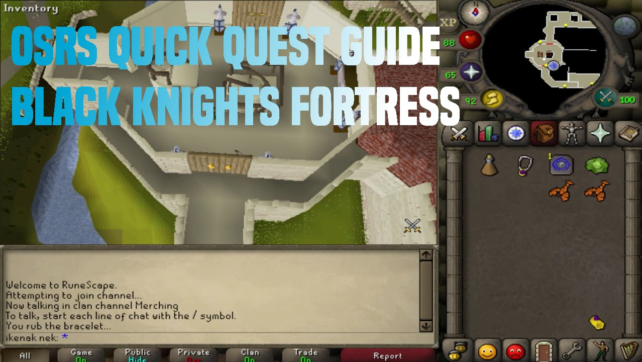Quick Quest Guide Black Knights Fortress3m12s Youtube