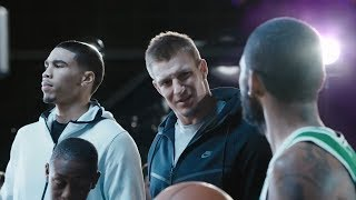 FUNNY New Kyrie Irving Nike Commercial with Rob Gronkowski and Jason Tatum 2017