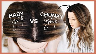 Babylights vs Modern Chunky Highlights  Highlighting and Foiling Tutorial including a Root Shadow