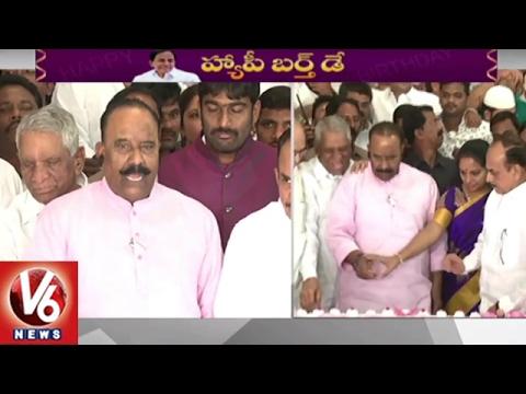 CM KCR Birthday Celebrations In Telangana Bhavan | Hyderabad | V6 News