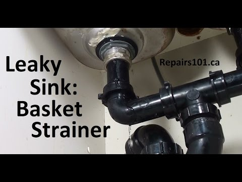 Leaky Sink: Basket Strainer - How to Fix The Most Common Leak