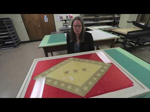 Old Arkansas State Flag Is Repaired And Returned