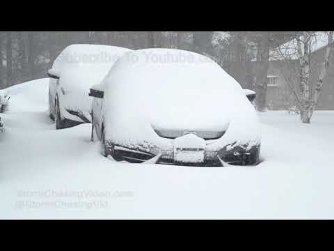 Nor'easter Hits Lewiston, Maine 3/8/2018