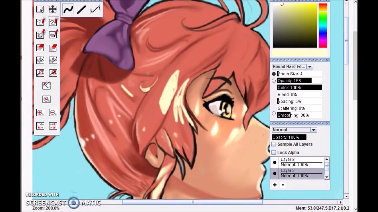 anime beach girl speedpaint (creating digital art) - youtube