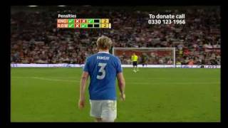 Soccer aid 2010 penalty shoot out part 1
