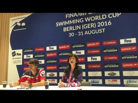 Press conference Dr. ChristaThiel, Berlin, FINA World Cup 2016