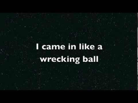 Wrecking Ball  Miley Cyrus  Lyric  HD