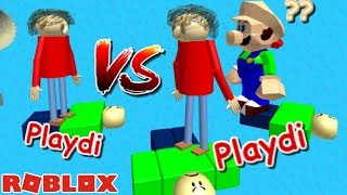 PLAYDI VS PLAYDI, BUT MARIO BALDI IS CONFUSED!! | The Weird Side of Roblox: Baldi's Basics OBBY