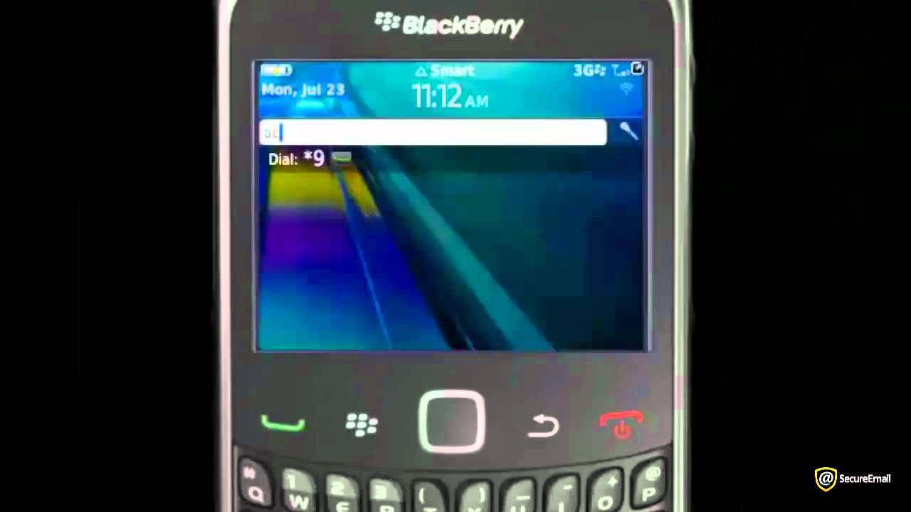 blackberry torch manual email setup