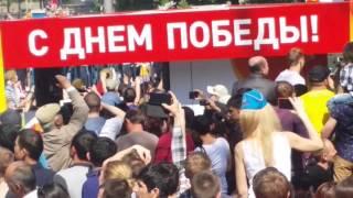 Возврат техники с парада 9 мая,метро Арбатская