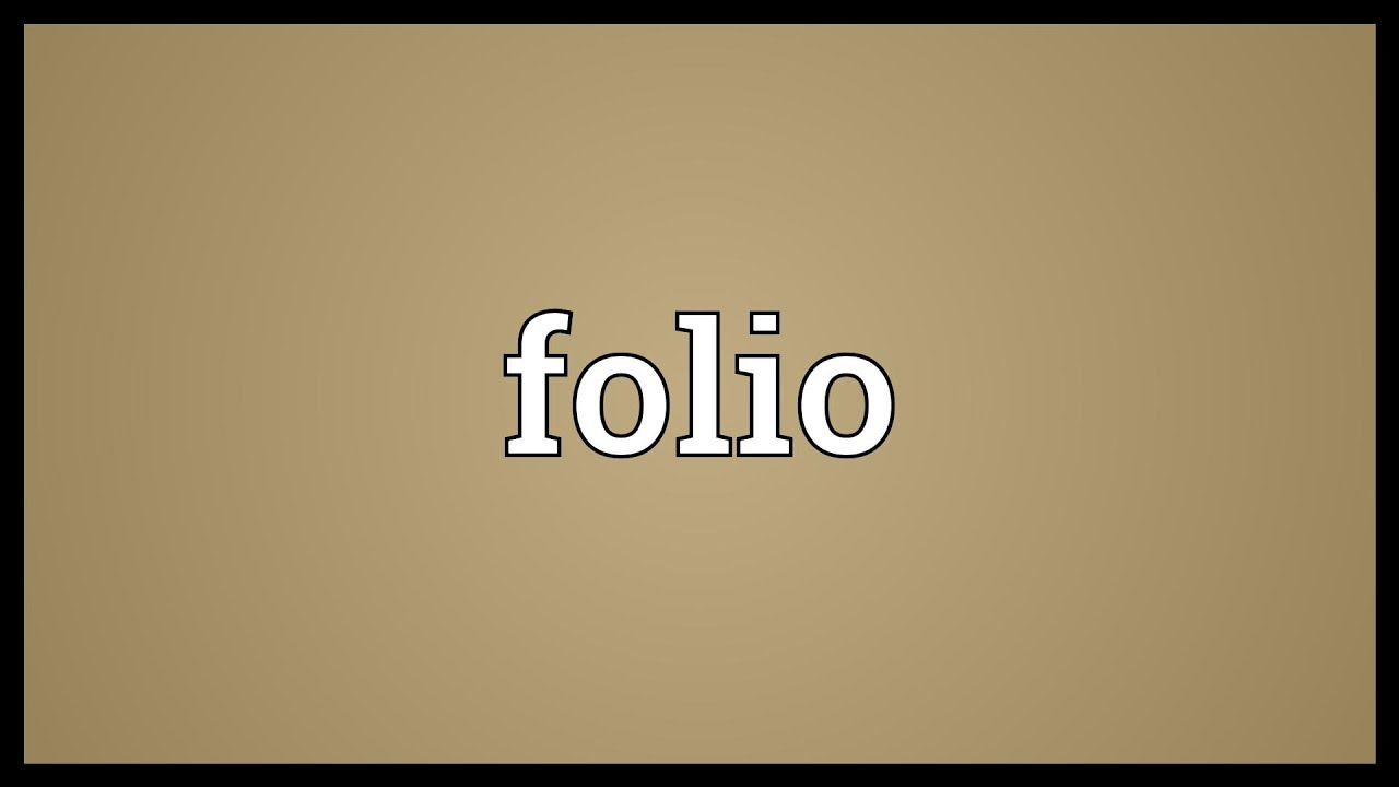 Attractive Folio Meaning