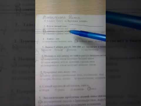 5 за тест по окружающему миру 4 класс