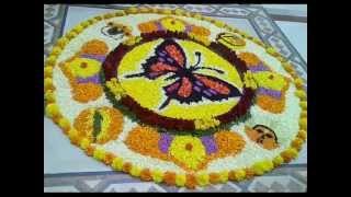 Onam & Unique Pookalam Rangoli Design Video