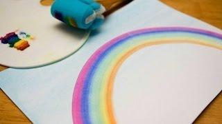 МК - как рисовать радугу ///// how to draw a rainbow(Мастер класс - как нарисовать ровно и красиво радугу., 2015-12-10T16:55:05.000Z)