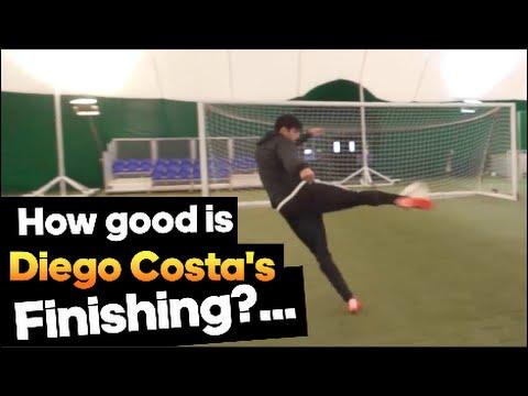 Diego Costa adidas Finishing Test!