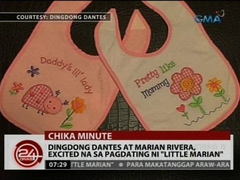 "24 Oras: Dingdong Dantes at Marian Rivera, excited na sa pagdating ni ""Little Marian"" - 동영상"